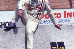 Photo of Vittorio Brambilla on the pit row wall.  1977 F1 LBGP