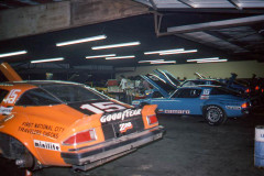 Photo of the IROC race in Riverside, CA.  Inside the Goodyear Garage.