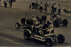 Photo of Dirt Track Racing in Argentina.  1950's