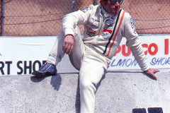 Photo of Vittorio Brambill on the pit wall.  1977 F1 LBGP