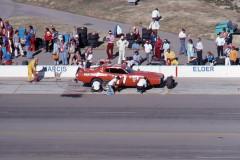 Photo of a NASCAR race at Ontario Motor Speedway
