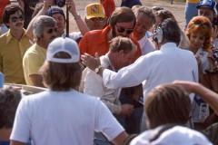 "Photo of the IROC race at Riverside, CA.  Cale Yarborough  and Cris "" Wacky"" Economacki."