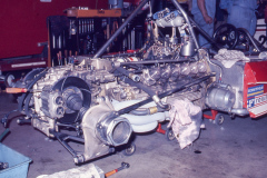 Photo of a Ferrari F1 Flat 12 Engine at the 1976 LBGP