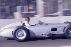 Photo of Juan Manuel Fangio in the 1955 GP Mercedes.  Taken at the 1976 F1 LBGP Vintage Race.