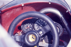 Photo of the Cockpit in Niki Lauda's F! Ferrari at the 1976 LBGP.