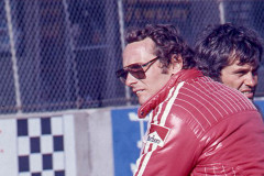 Photo of Niki Lauda in the pit lane.  1976