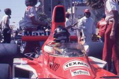 Photo of F1 McLaren and James Hunt.  1976