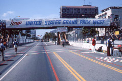 Photo of the Start Finish Line.  1976 F1 LBGP