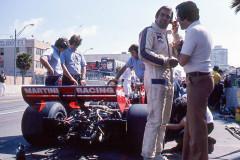 Photo of F1 Brabham and Carlos Reutemann.  1976