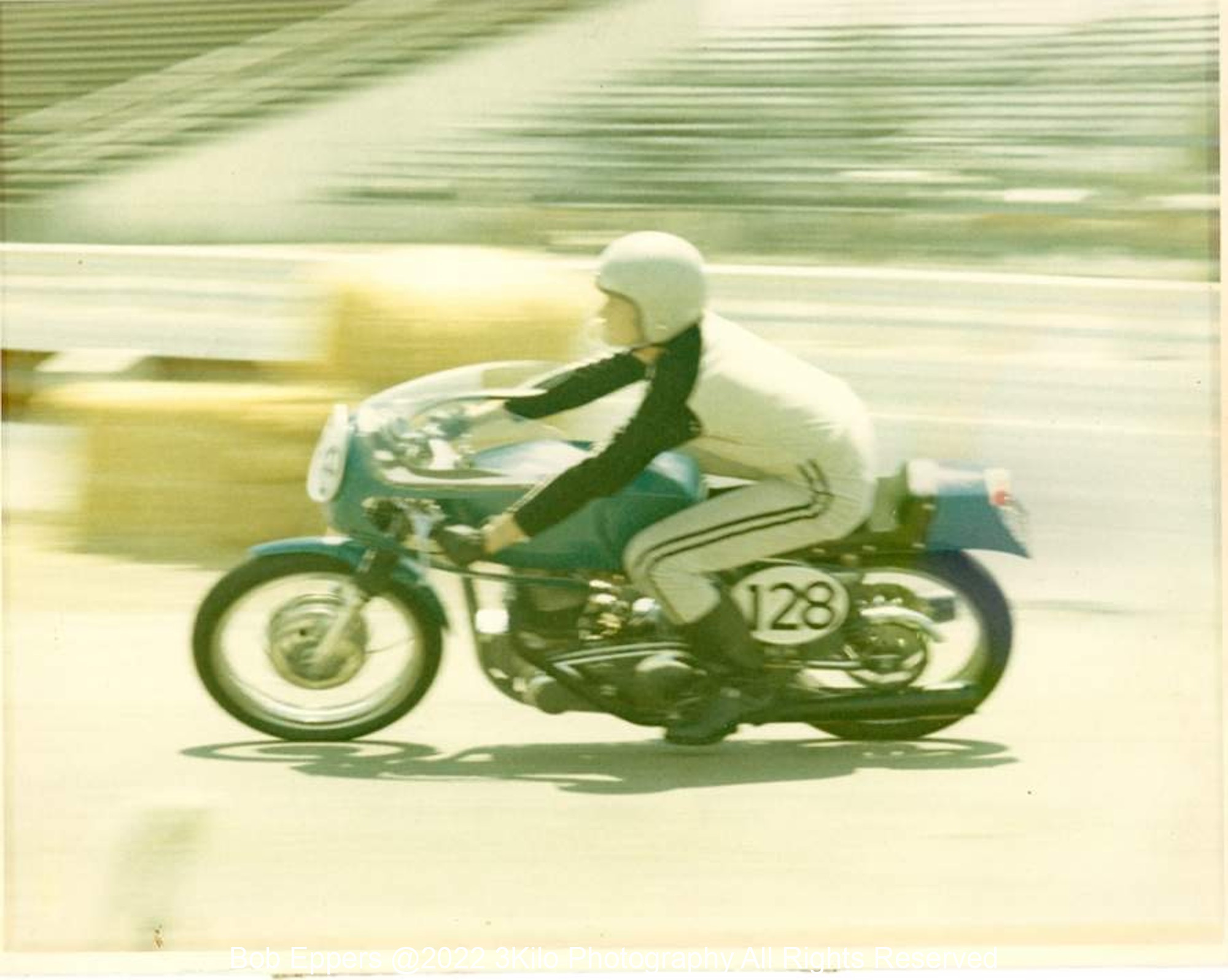 Photo taken at my first Road Race at OCIR.  I started dead last and finished 3rd behind the Factory Nortons of Bull Manley and Jack Simmons.