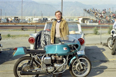 Photo taken at the 2nd Annual Motorcycle National Drag Races at Irwindale Raceway.  1971
