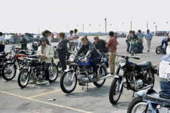 Photo taken at the 1st Annual Motorcycle Drag Races at Irwindale Raceway.  1970