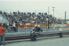 Photo of the 750 Championship Race.  I won the race but lost on a red light.  1970