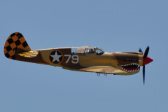 Photo of a P-40 Warhawk at the Chino Air Show